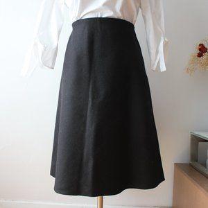 Everlane A-Line Black Wool Skirt